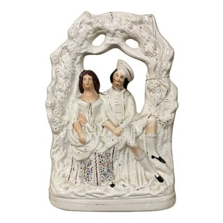 1920s Staffordshire Highland Couple For Sale