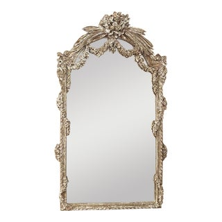 19th Century French Louis XVI Painted Mirror For Sale
