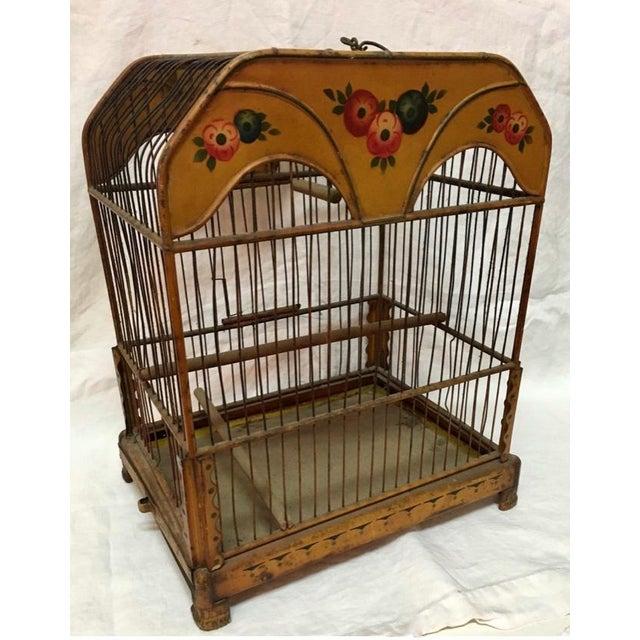 Metal Wonderful European Tole Birdcage For Sale - Image 7 of 7