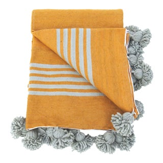 Gold Moroccan Wool Blanket