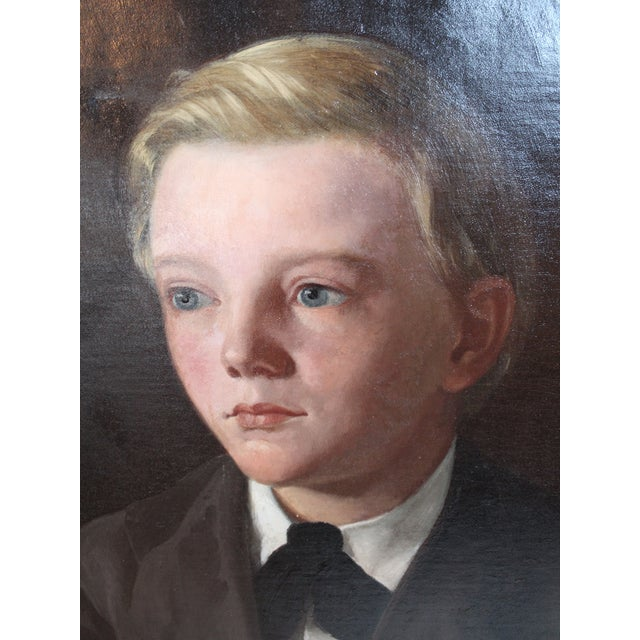 "Portraiture ""Earnest Conrad, Age 10"" Painting For Sale - Image 3 of 7"