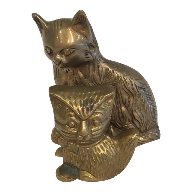 Vintage Brass Cat Figures - A Pair - Image 1 of 8