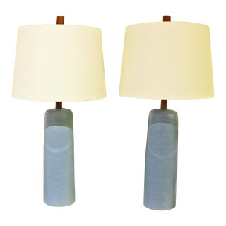 1950's Gordon & Jane Martz Pottery Table Lamps - a Pair