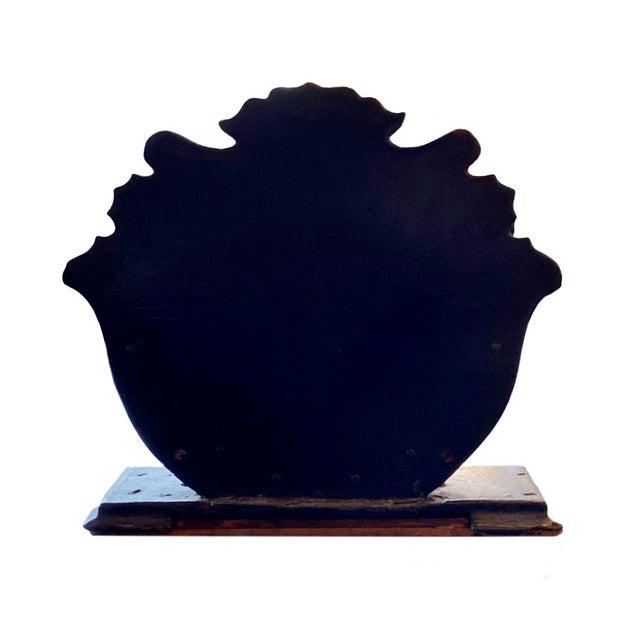 Antique Black Paper Maché Letter Holder For Sale - Image 4 of 6