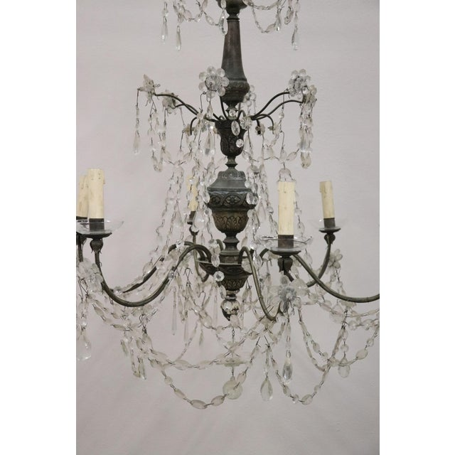 18th Century Italian Louis XVI Crystals Antique Chandelier For Sale - Image 4 of 12