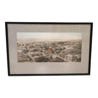 Listed Artist Richard Rummell Hand Colored Copperplate Engraving, Framed For Sale