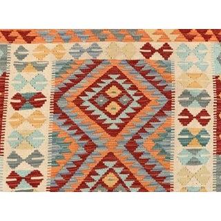 Vintage Geometric Multicolored Reversible All Wool Kilim Rug- 2′10″ × 4′2″ Preview