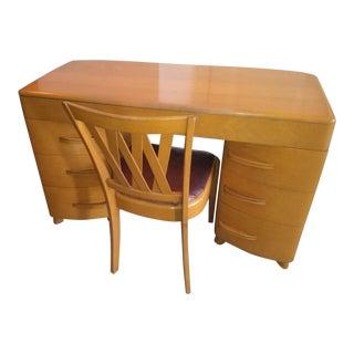 Heywood Wakefield M320 Kneehole Desk & Chair
