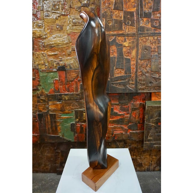 1960s Abstract Figural Rosewood Sculpture For Sale - Image 5 of 7