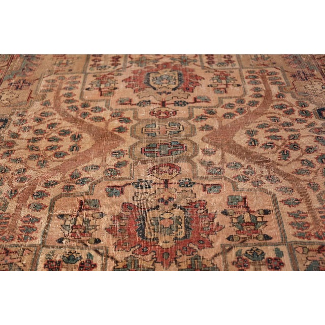 Brown 17th Century Small Size Persian Khorassan Rug For Sale - Image 8 of 13