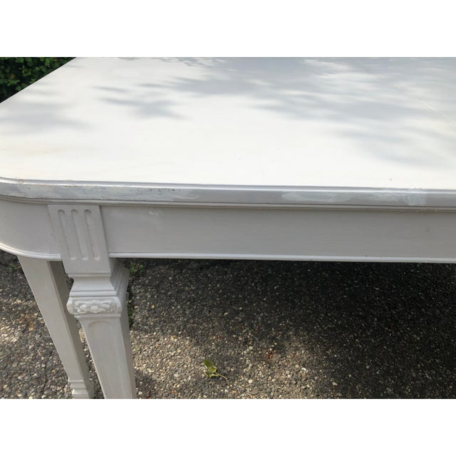 Swedish Gustavian Dining Table For Sale - Image 4 of 7
