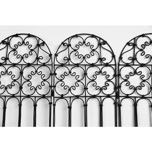 Moroccan Three Panel Iron Screen For Sale - Image 3 of 4