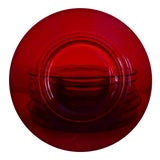 Image of Mid-Century Modern Red Glass Dessert Plates - Set of 8 For Sale