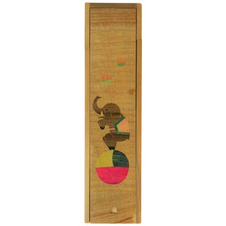 Japanese Boxed Pencil Set With Elephant and Ball Design For Sale