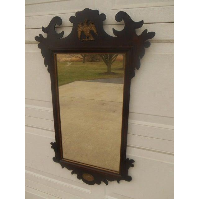 Antique Large Federal Eagle Crest Gold Gilt Mirror - Image 3 of 6