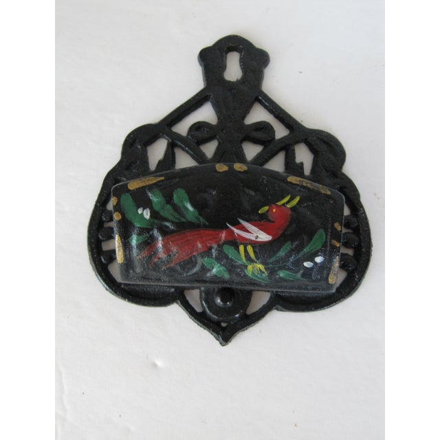 Black Iron Match Safe with Rooster - Image 3 of 5