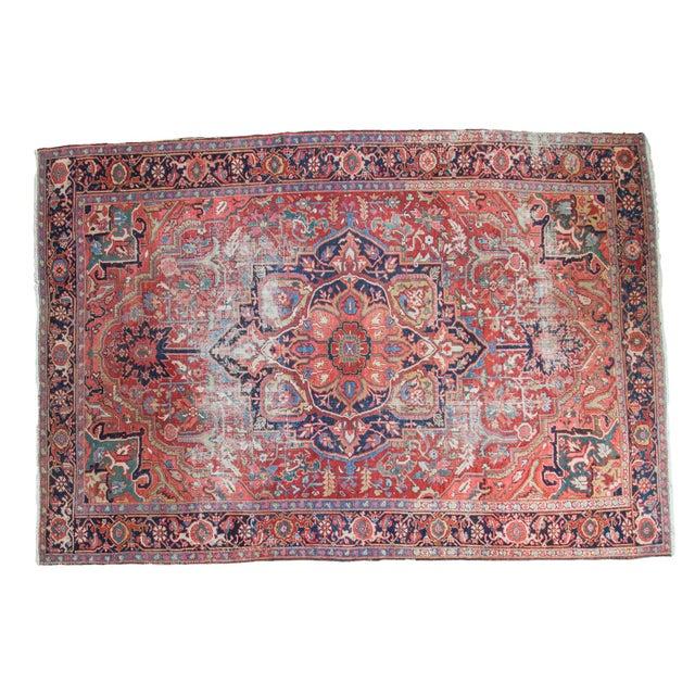 "Distressed Ahar Heriz Carpet - 8'2"" X 11'9"" - Image 1 of 10"