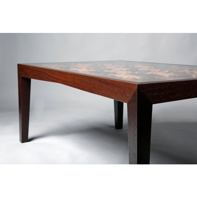 A wooden coffe table, made of luxury woods (teak Burma & wenge) is the eighth piece of Pitsilkas handmade luxury furniture...