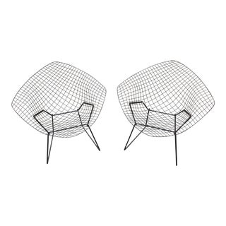 1970s Vintage Harry Bertoia Chairs- A Pair For Sale