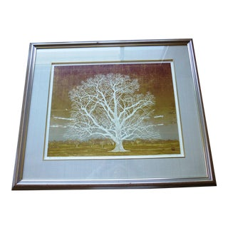 Morihito Sato Woodblock Print of Tree For Sale