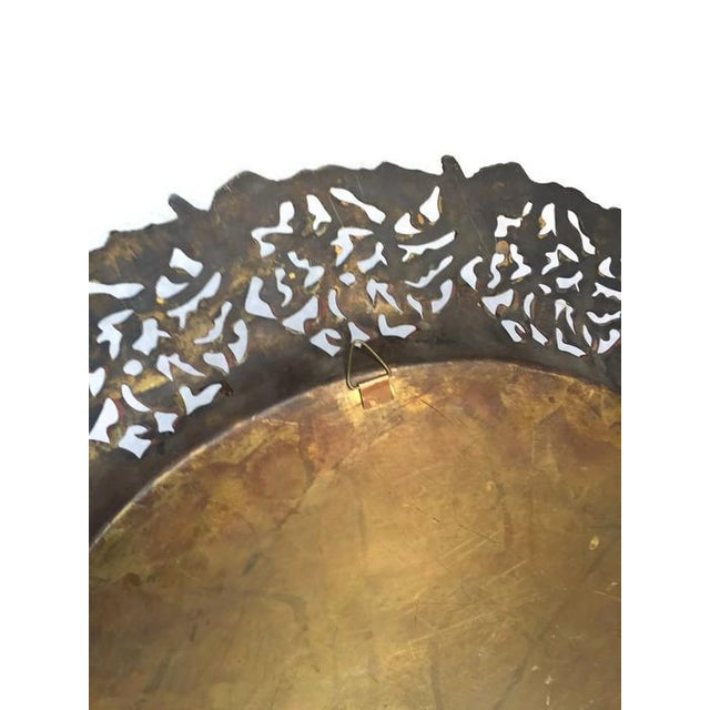 Vintage Pierced Metal Egyptian Platter or Wall Art - Image 5 of 6