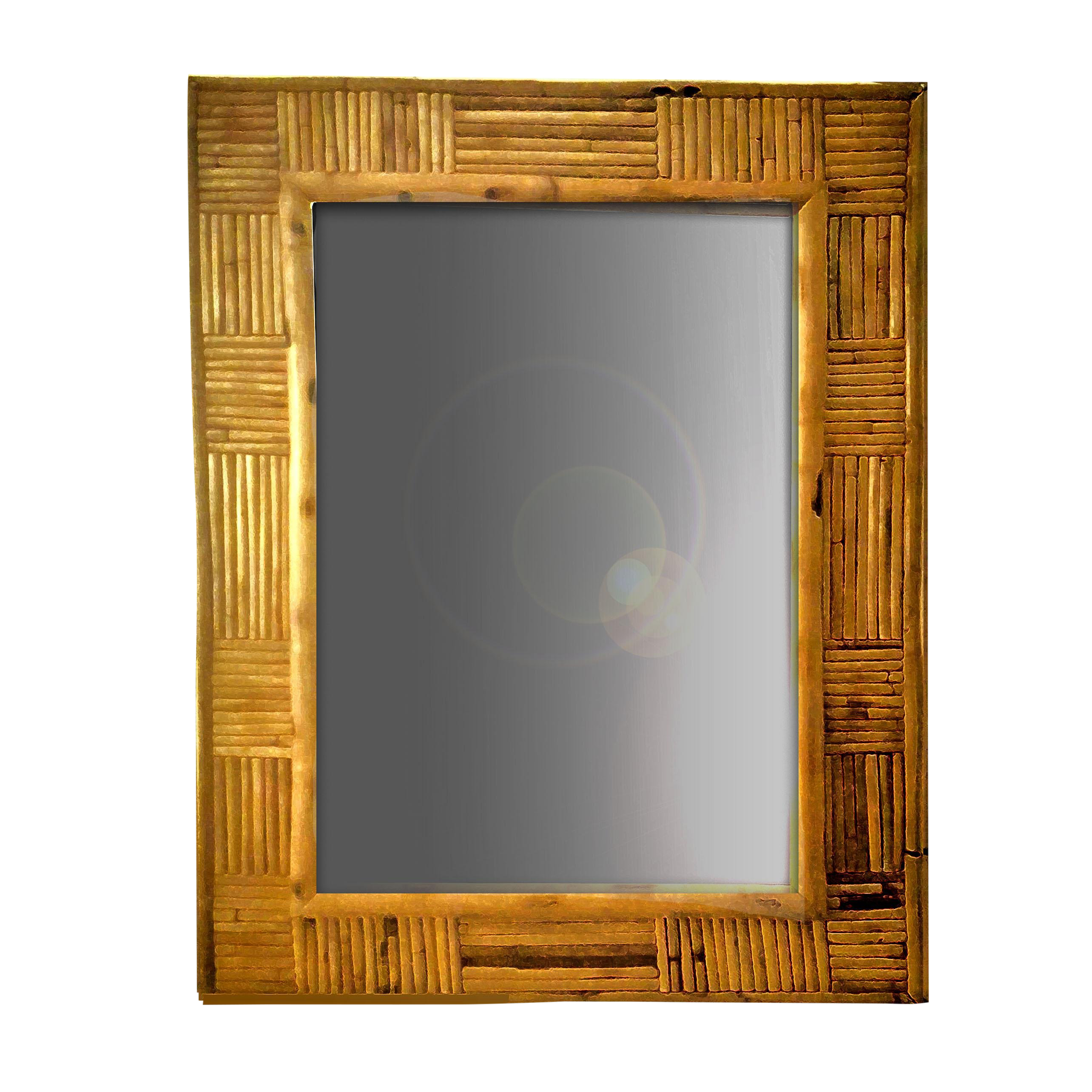 antique wall mirrors brass vintage pencil reed rattan mosaic patchwork patterned framed wall mirror used mirrors for sale chairish