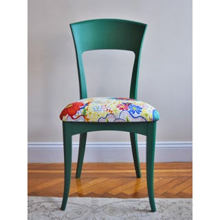21st Century Vintage Italian Side Chair With Josef Frank Nippon Fabric Preview