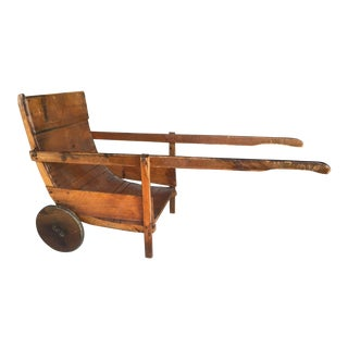 Antique Wood Sedan Chair For Sale