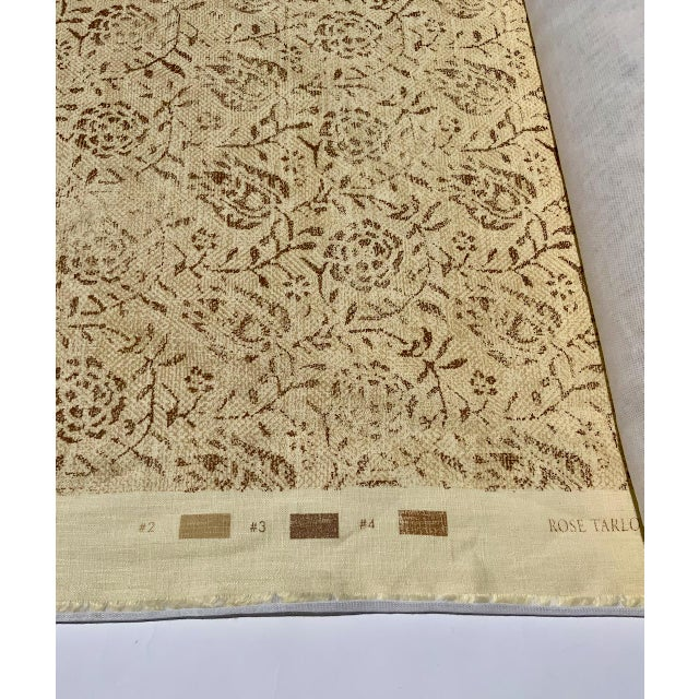 """Rose Tarlow Rose Tarlow for Melrose House """"Calais"""" Fabric in Taupe/Natural 100% Hemp Lined For Sale - Image 4 of 9"""