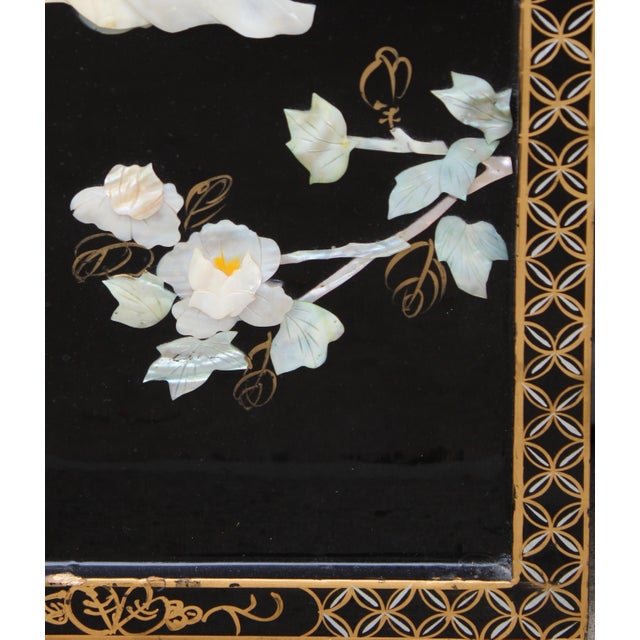 Asian Asian Wall Panels Depicting Chinese Performers or Geishas For Sale - Image 3 of 13