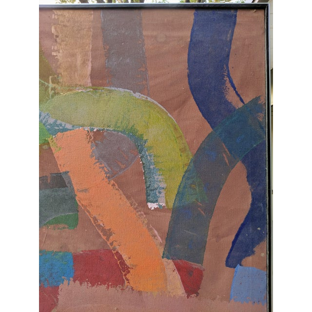 """81"""" Oversize Framed Oil on Canvas Abstract Painting For Sale - Image 11 of 13"""