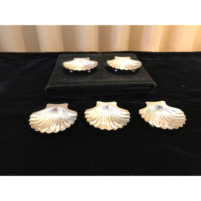 These small sterling silver footed Caviar dishes are the hallmark of elegance at your table! They are stamped Cartier 1748...