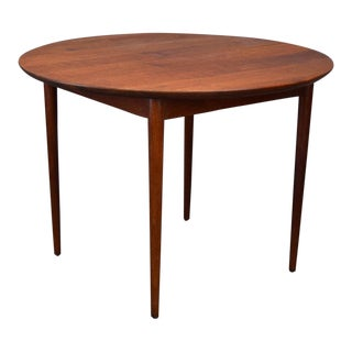 Exquisite Mid-Century Teak Cabinetmaker Table With Two Leaves