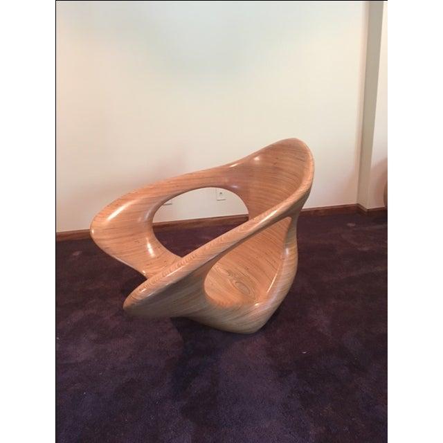 Modern Artisan Equilibrium Rocking Chair For Sale - Image 3 of 5