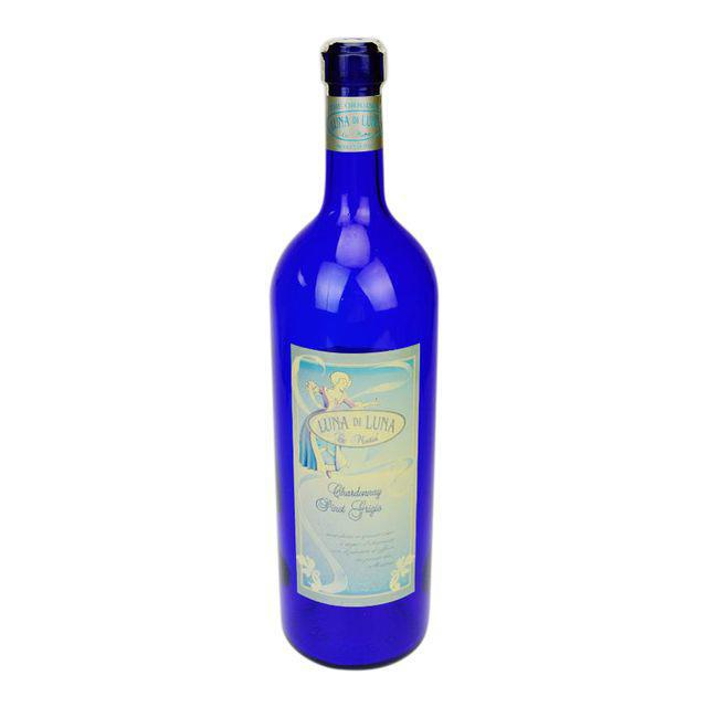 Blue Luna di Luna Wine Display Bottle For Sale - Image 8 of 8