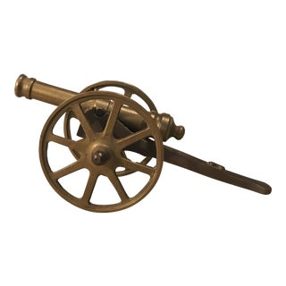 Vintage Solid Brass Cannon For Sale