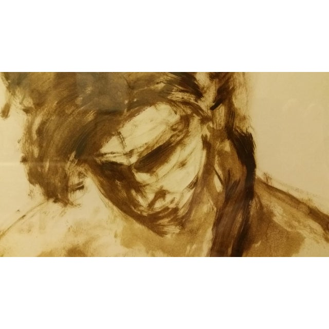 1963 Mid-Century Watercolor Nude Painting - Image 4 of 7
