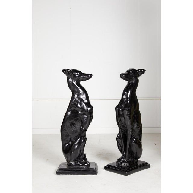 Vintage Pair of Art Deco Style Whippet Statues For Sale In Atlanta - Image 6 of 13
