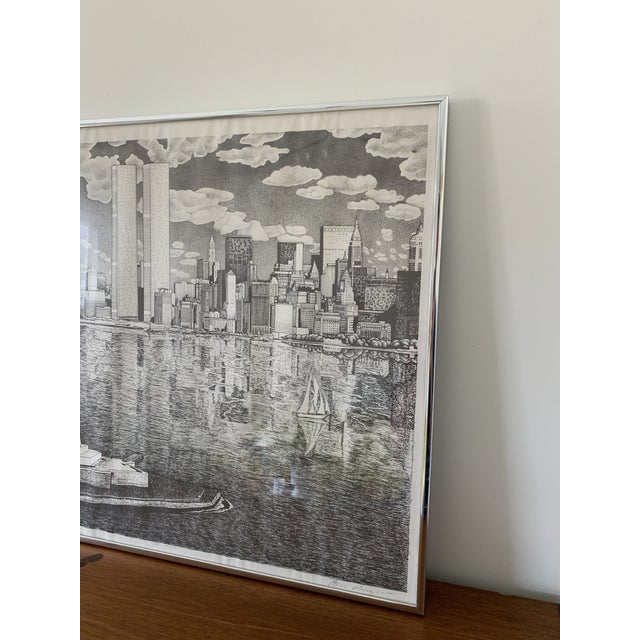 Vintage New York City Pen and Ink Drawing For Sale In Minneapolis - Image 6 of 8