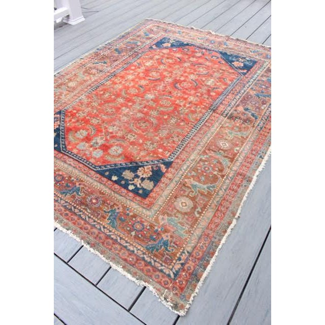 "Vintage Persian Rug - 4'11"" x 6'4"" - Image 3 of 10"