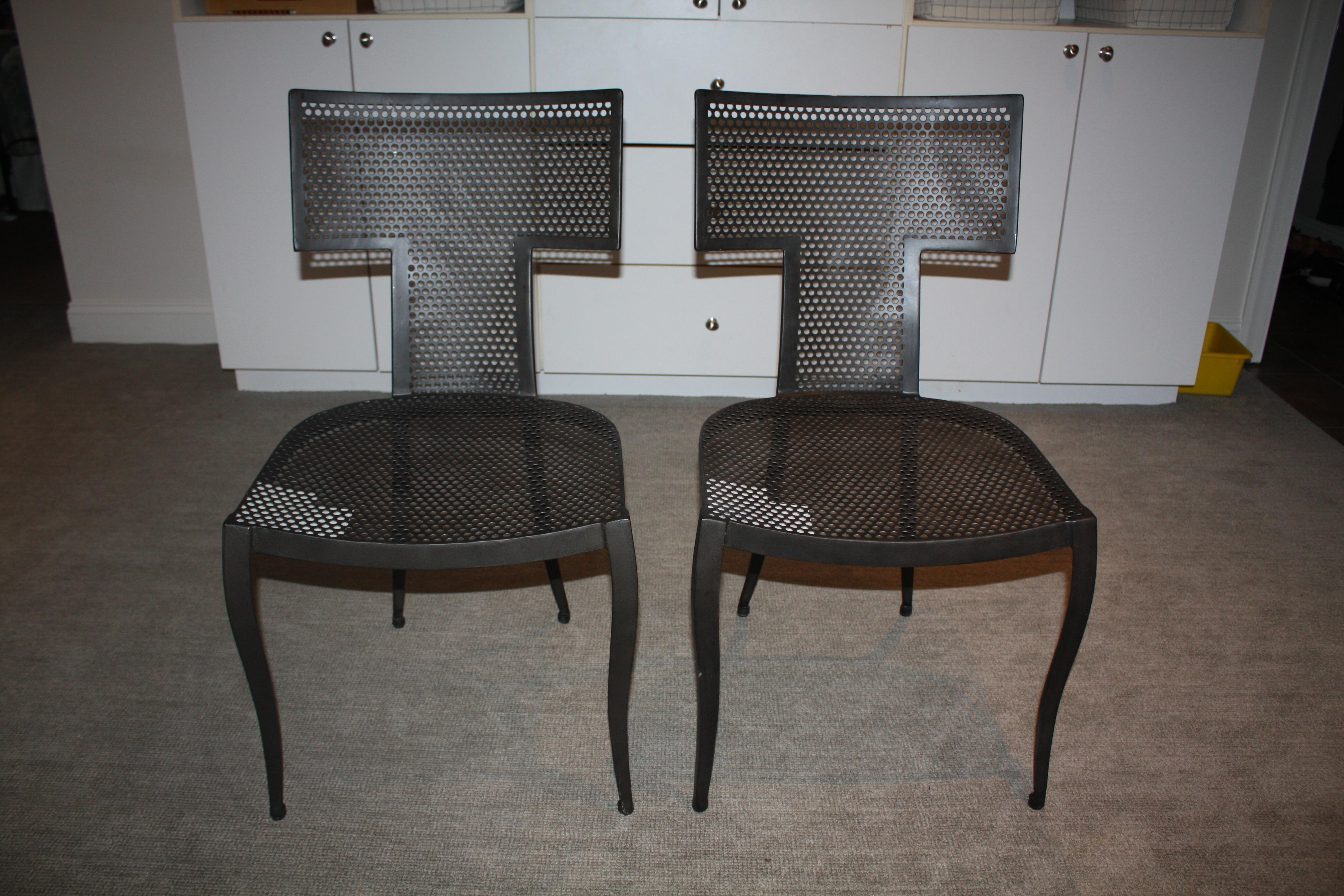 Modern Black Made Goods Hadley Chair    An Indoor/Outdoor Chair   Image