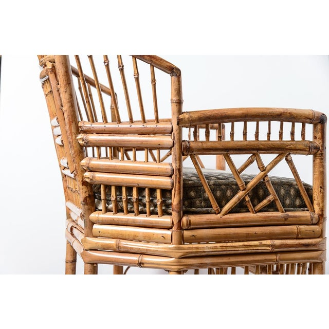 1960s Brighton Bamboo Barrel Chairs, A-Pair For Sale - Image 5 of 13
