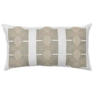 Contemporary Pillar Appliqué Ivory Pillow For Sale