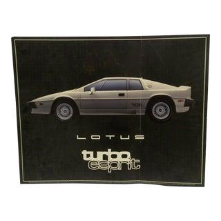 "Vintage ""1985 Lotus Esprit Turbo"" Exotic Car Poster"