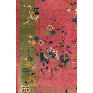 1920s Vintage Chinese Art Deco Rug- 3′2″ × 4′10″ Preview