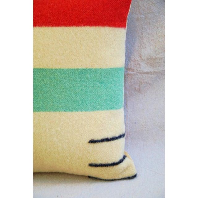 Multi-Striped Hudson's Bay Blanket Pillow - Image 4 of 6