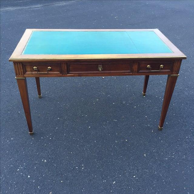 Antique Regency Leather Top Writing Desk - Image 3 of 9