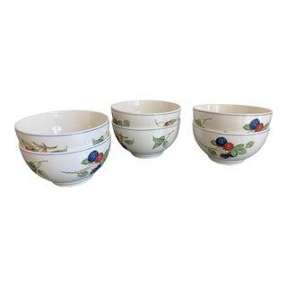 Villeroy & Boch Porcelain Cottage Rice Bows - Set of 6 For Sale
