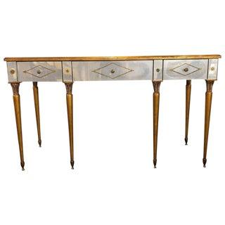 Hollywood Regency Style Mirrored Desk / Vanity Églomisé Decoration by Heritage