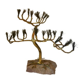 "Gilt Metal ""Bonsai"" Tree"